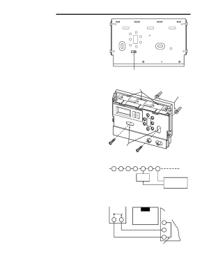 Installation, Remove old thermostat, Attach thermostat base to wall | White Rodgers 1F86444