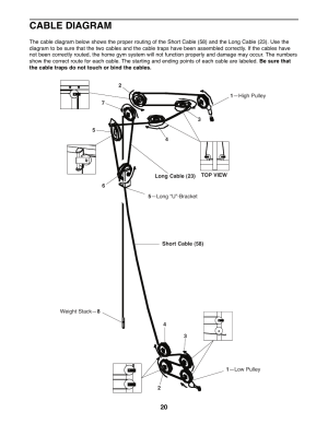 Cable diagram | Weider 8510 User Manual | Page 20  27