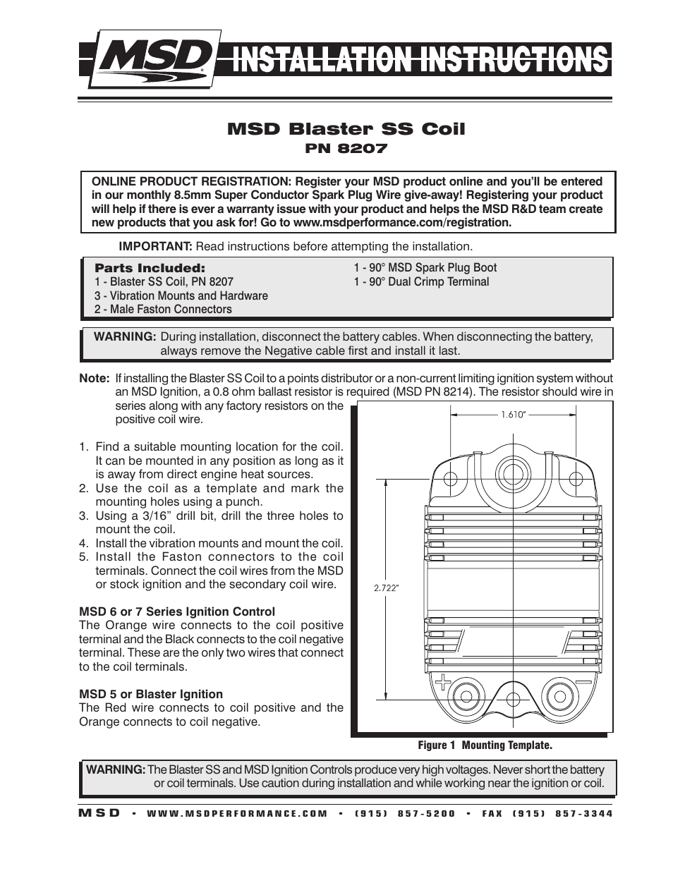 Msd Coil Wiring Diagram : Msd wiring diagram coil installation