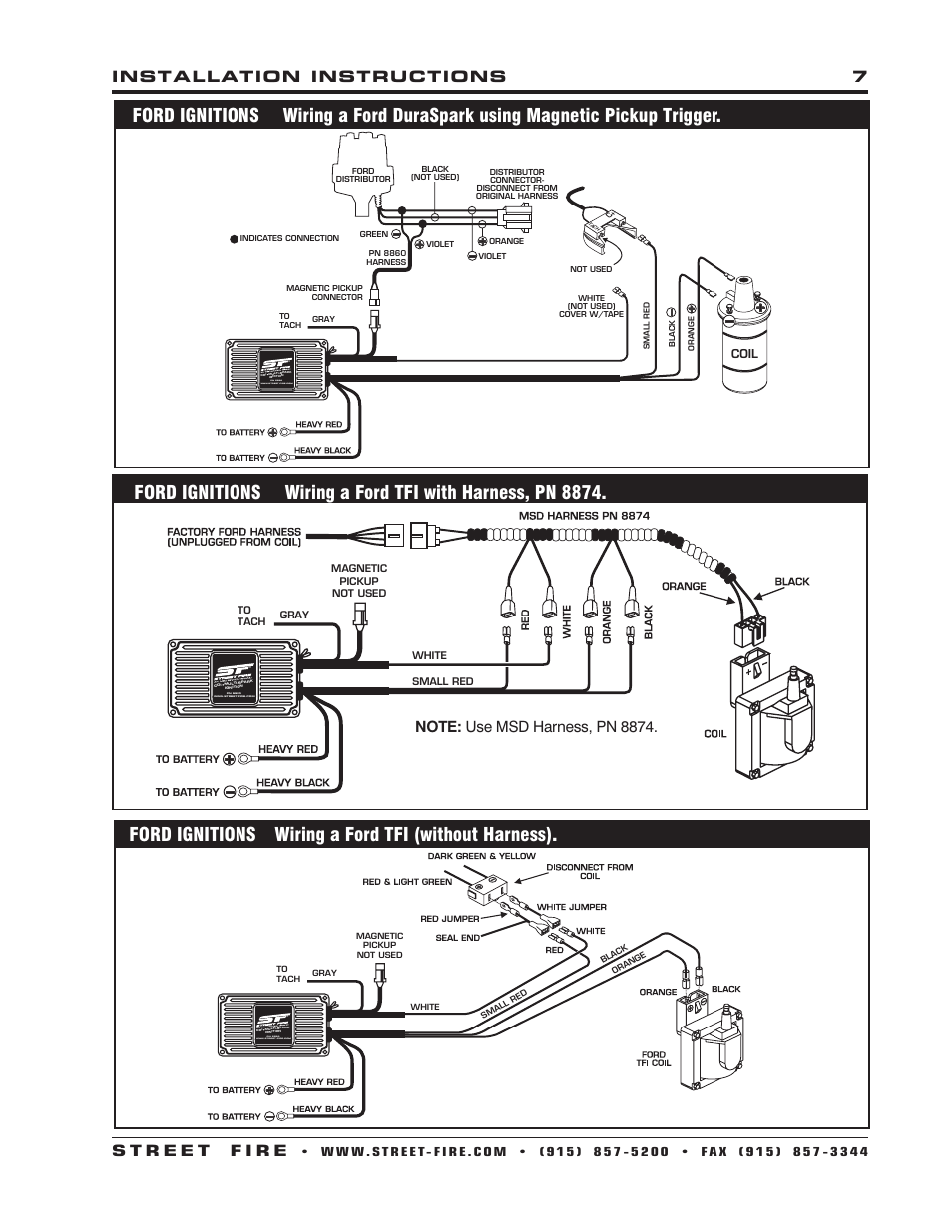 msd street fire wiring diagram - somurich.com pro p ignition box wiring diagram #12