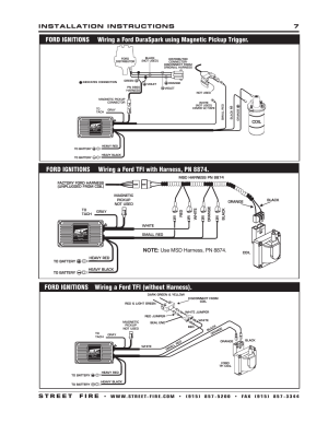 Ford ignitions wiring a ford tfi (without harness) | MSD