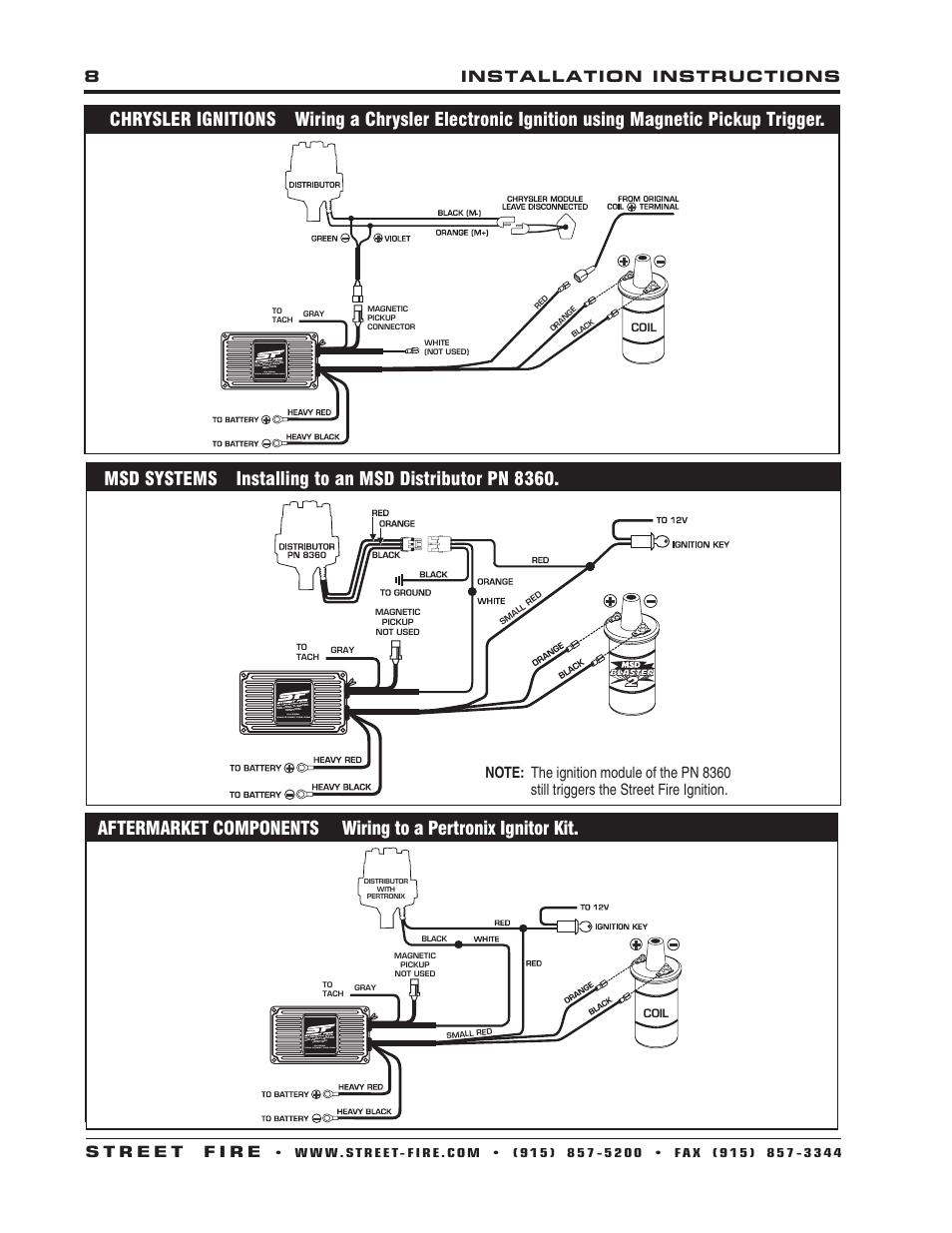 Billet Automotive Buttons Wiring Diagram : Plug n play billet distributors pertronix distributor wire