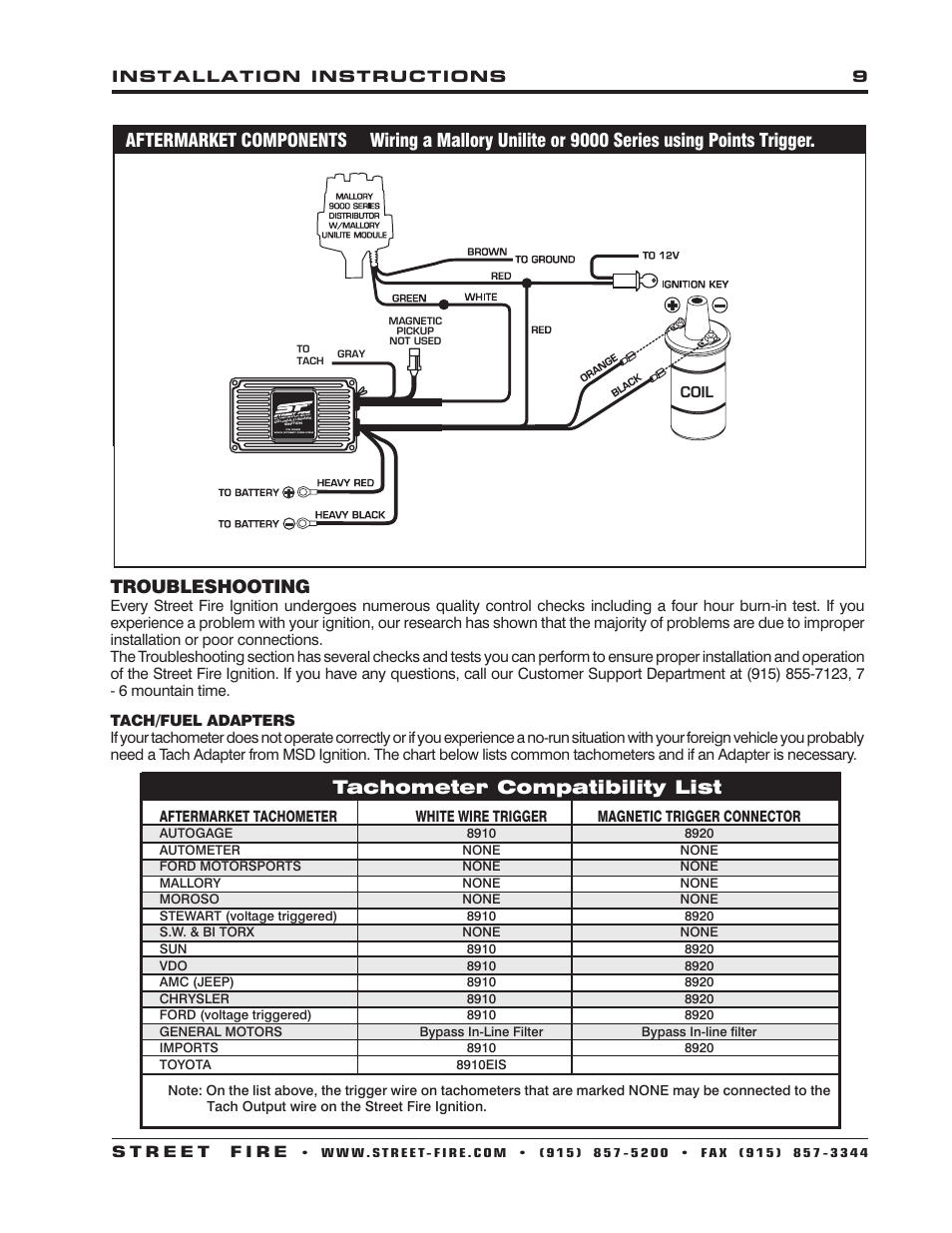 msd 5520 street fire ignition control installation page9?resize=665%2C861 mallory high fire ignition wiring diagrams mallory dist wiring mallory unilite wiring diagram at gsmx.co