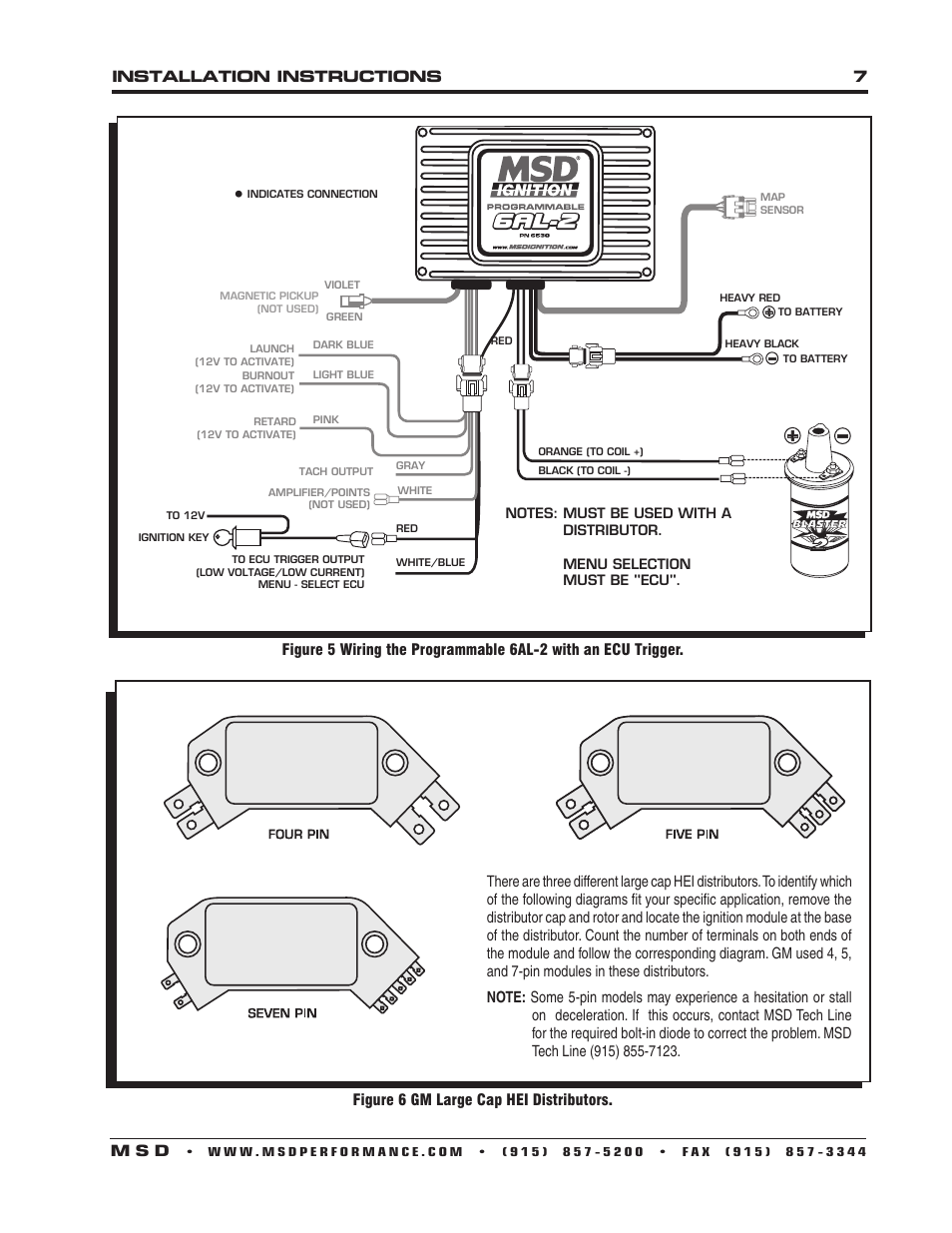 Msd 6al Wiring Diagram V8 Distributor 85561 Hei 26 Images