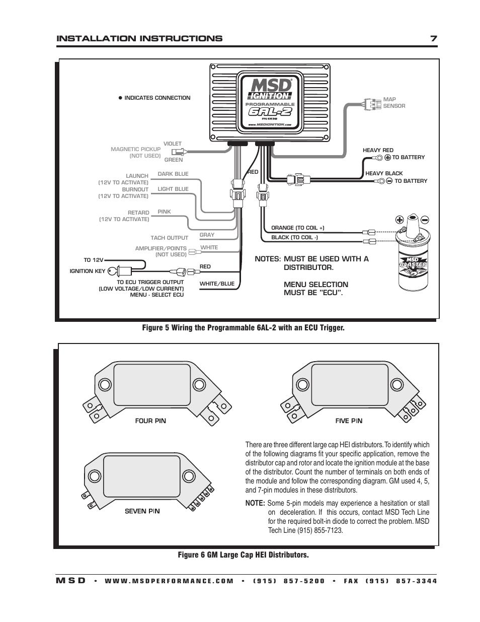 Msd 6al Wiring Diagram V8 Distributor 85561 Hei 26 Images
