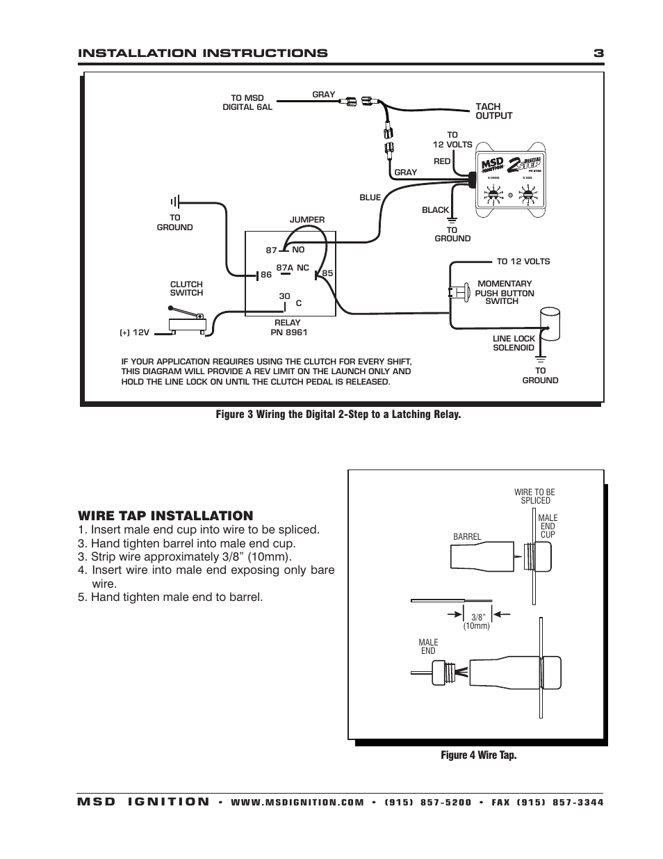Drag Specialties 2211 0103 Tachometer Wiring Diagram 52 Sunpro Tach Schematic For Mazda B2200 On Download Wirning Diagrams Msd 8732 2 Step Rev Control Digital 6al Installation Page3resize