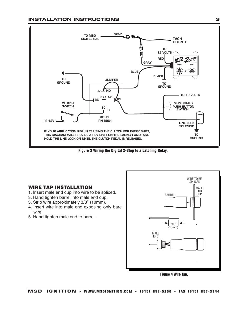 Drag Specialties 2211 0103 Tachometer Wiring Diagram 52 Sunpro Amp Gauge Schematic Msd 8732 2 Step Rev Control For Digital 6al Installation Page3resize