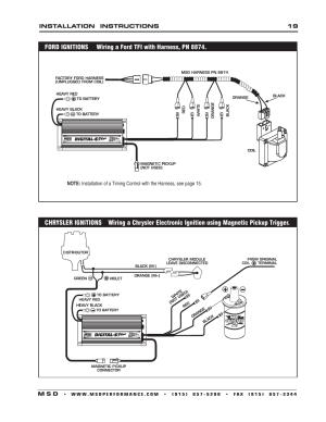 MSD 6520 Digital 6Plus Ignition Control Installation User