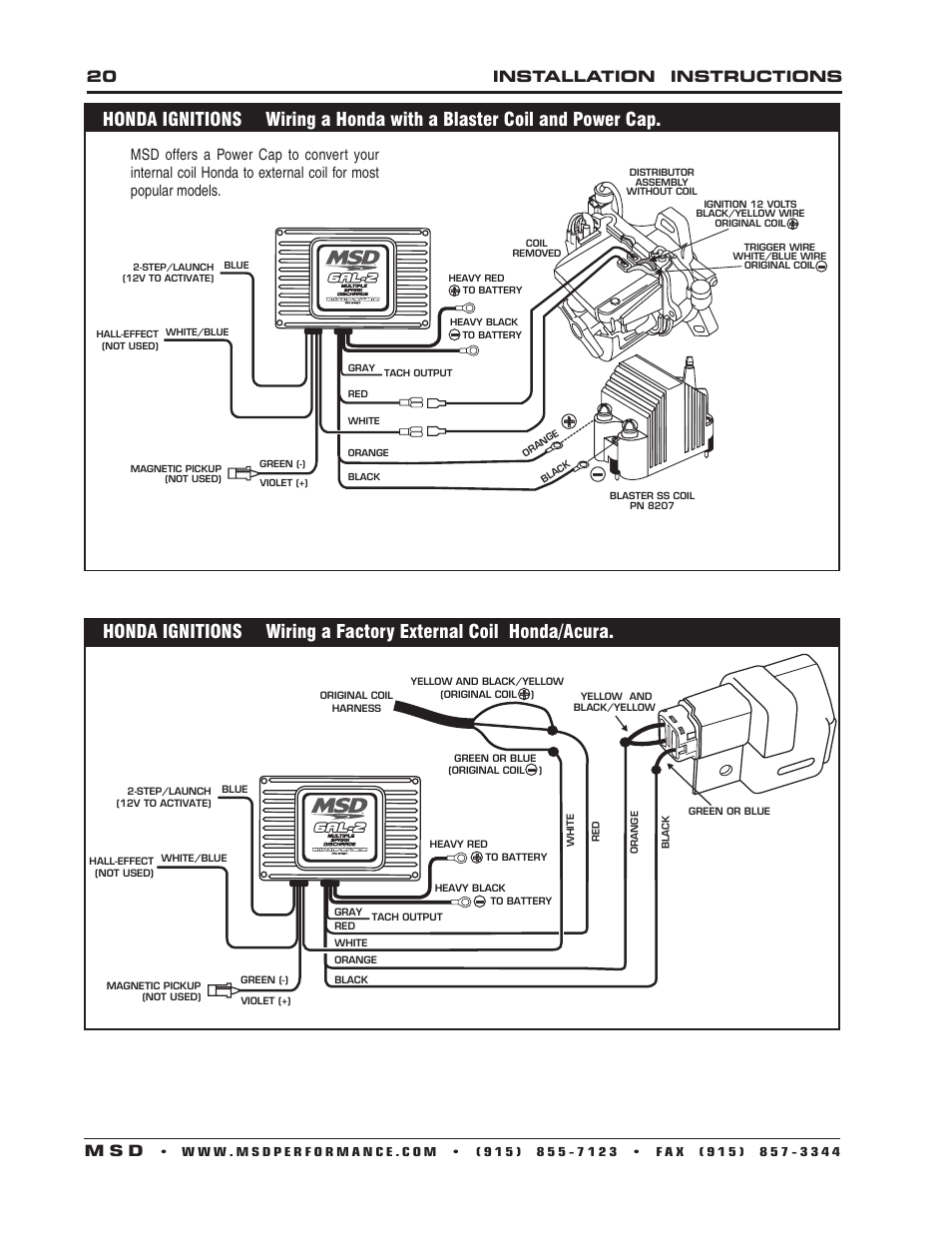 Msd 6a Wiring Diagram Jeep 26 Images Two Step Diagrams 753437 6al Ignition 6421 2 Control Installation Page20resize665