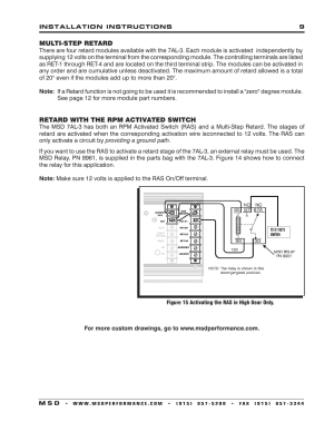 MSD 7330 7AL3 Ignition Control Installation User Manual