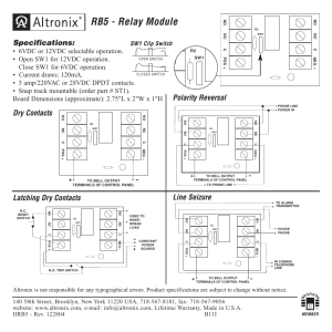 Altronix RB5 Installation Instructions User Manual | 1 page