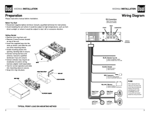 Preparation, Wiring diagram, Mxdm66 installation | Dual
