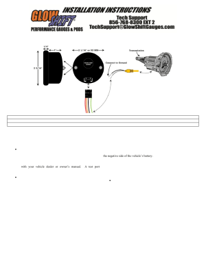 GlowShift Digital Series Celsius Transmission Temperature Gauge User Manual | 3 pages | Also for