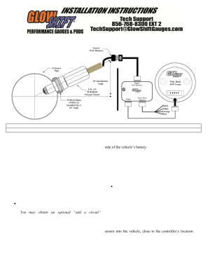 GlowShift Tinted Series Wideband Air_Fuel Ratio Gauge User Manual | 4 pages