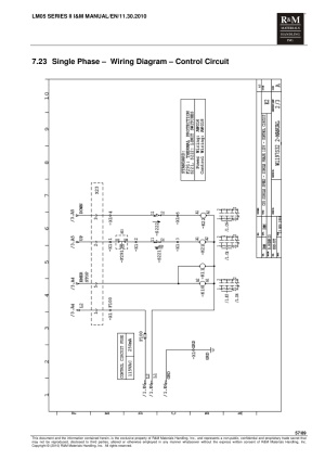 23 single phase – wiring diagram – control circuit | R&M