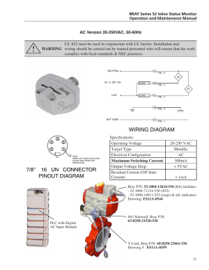 Wiring diagram, 78'' 16 un connector pinout diagram | Bray 52 Series User Manual | Page 13  21