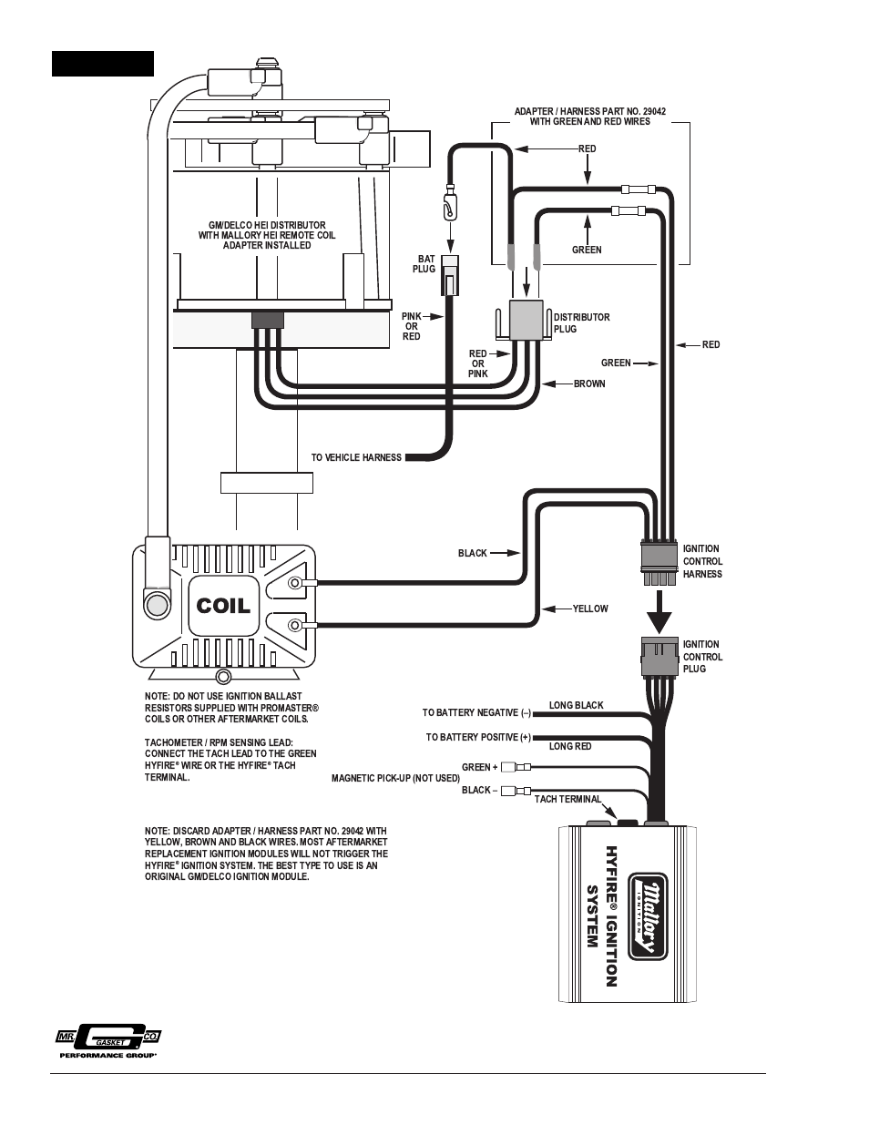 wiring diagram for msd6al to mallory 8360m distributor