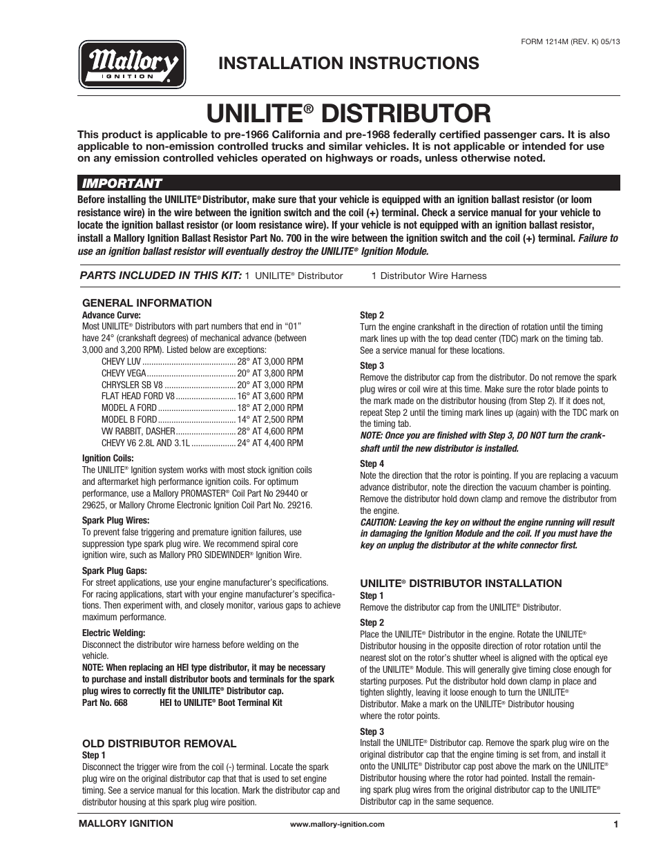 mallory ignition mallory unilite distributor 37_38_45_47 page1?resize=665%2C861 3748201 mallory ignition wiring diagrams mallory breakerless  at readyjetset.co