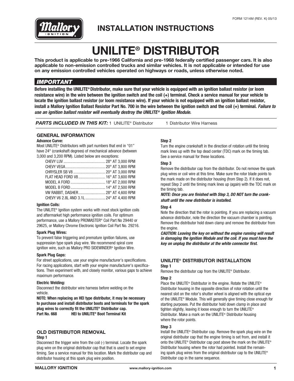 mallory ignition mallory unilite distributor 37_38_45_47 page1?resize=665%2C861 3748201 mallory ignition wiring diagrams mallory breakerless  at readyjetset.co