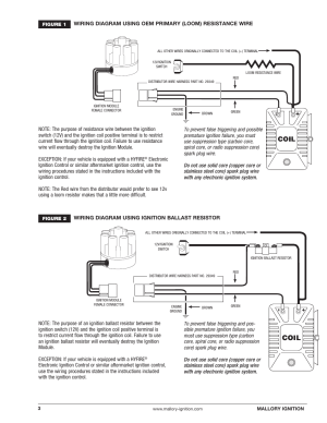 Mallory Ignition Mallory MAGNETIC BREAKERLESS DISTRIBUTOR 609 User Manual | Page 3  4