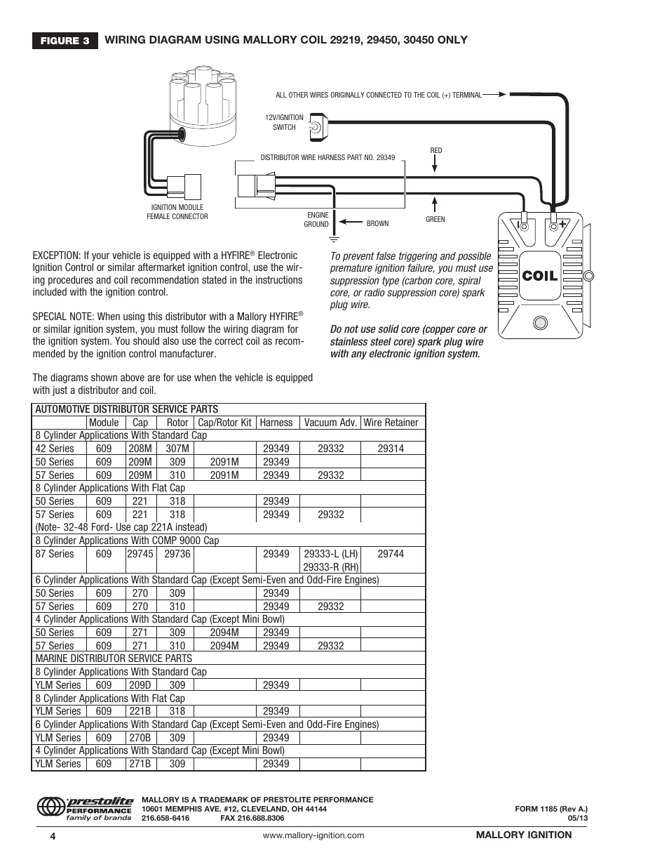 mallory ignition mallory magnetic breakerless distributor 609 page4?resize\\\=665%2C861 diagrams 547353 mallory unilite distributor wiring diagram unilite wiring diagram at aneh.co
