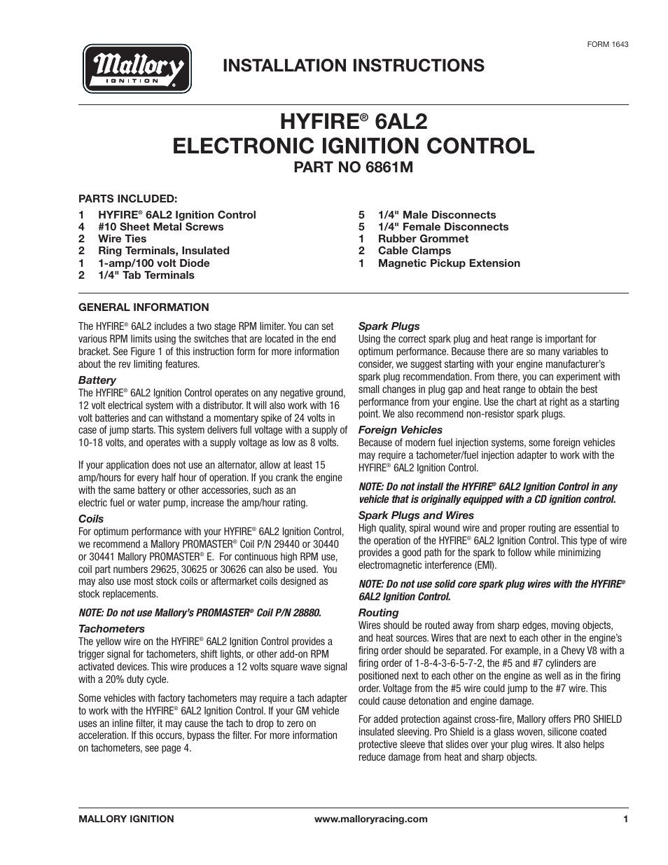100 [ Mallory Mag Wiring Diagram ] Vertex Magneto Wiring Mallory Ignition Mallory Hyfire 6al2 Electronic