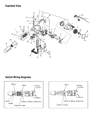 Exploded view switch wiring diagrams | Master Appliance