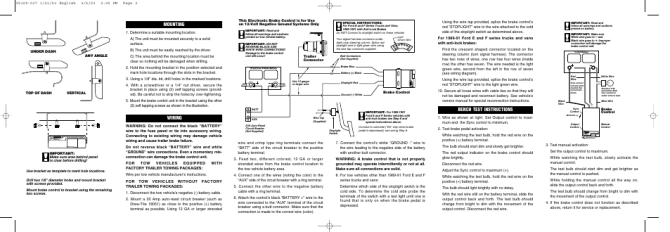 bench test instructions mounting wiring  reese 83501