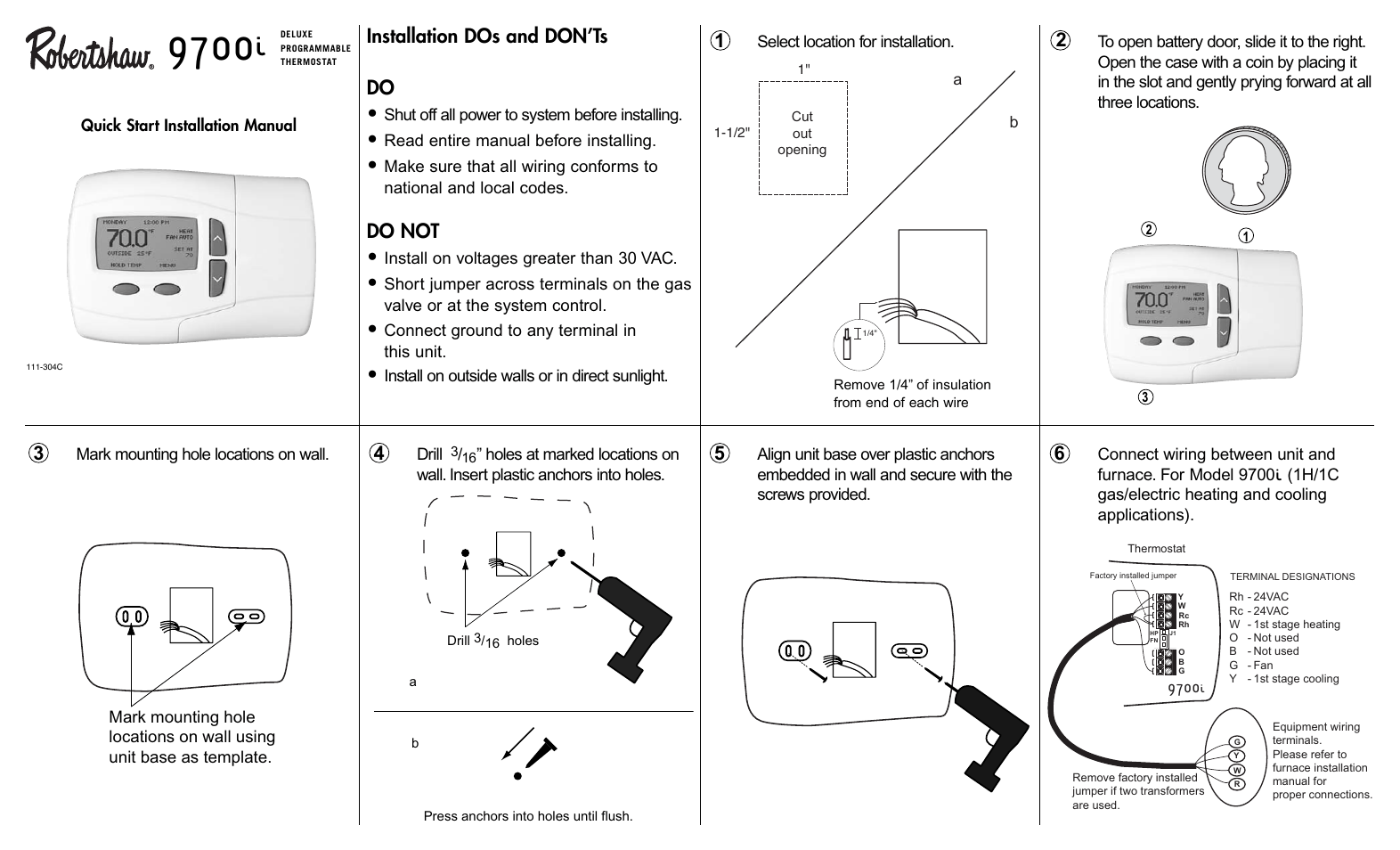 Robertshaw Thermostat Wiring Another Blog About Diagram Installing A 9825i2 I U2022 Mifinder Co 9500 Robert Shaw Installation Instructions