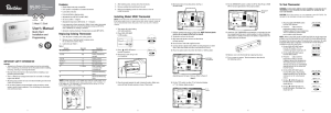 Robertshaw 9500 User Manual | 11 pages