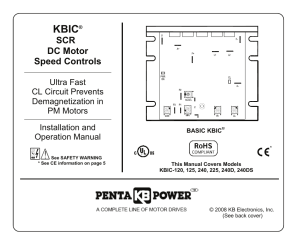 KB Electronics KBIC240DS User Manual | 28 pages | Also for: KBIC240D, KBIC240, KBIC125, KBIC120