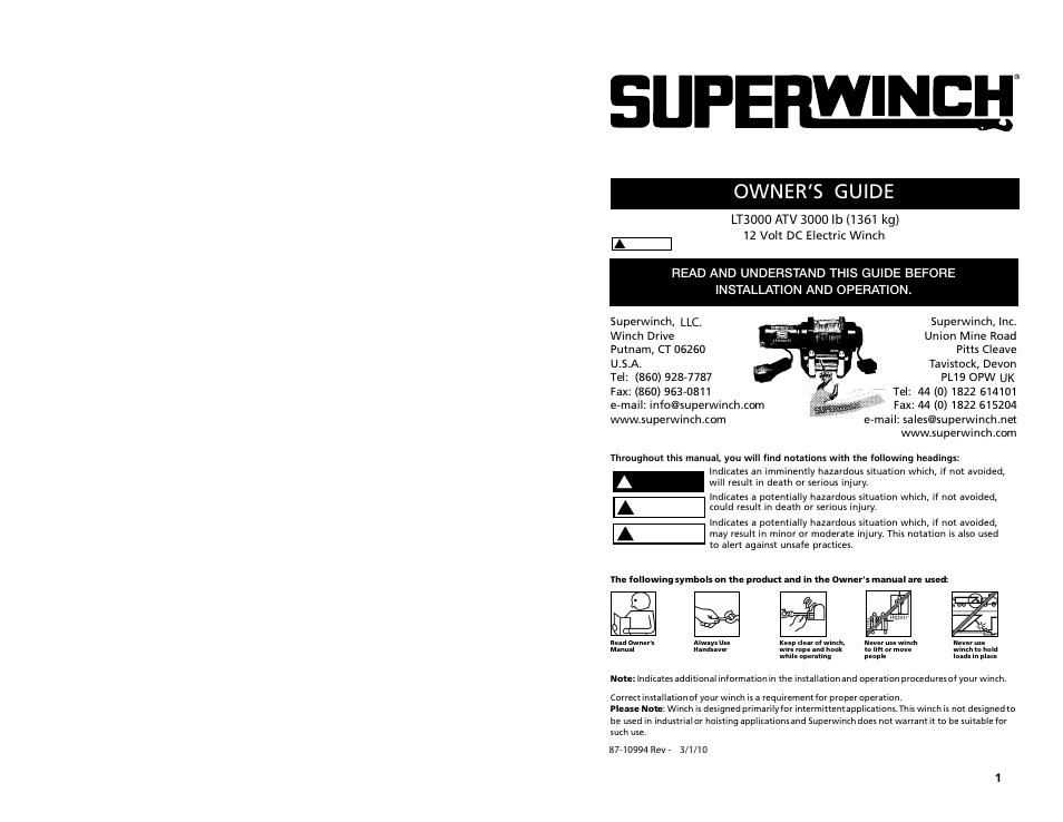 Fine Superwinch Lt 2500 Wiring Diagram Gallery - Wiring Diagram ...