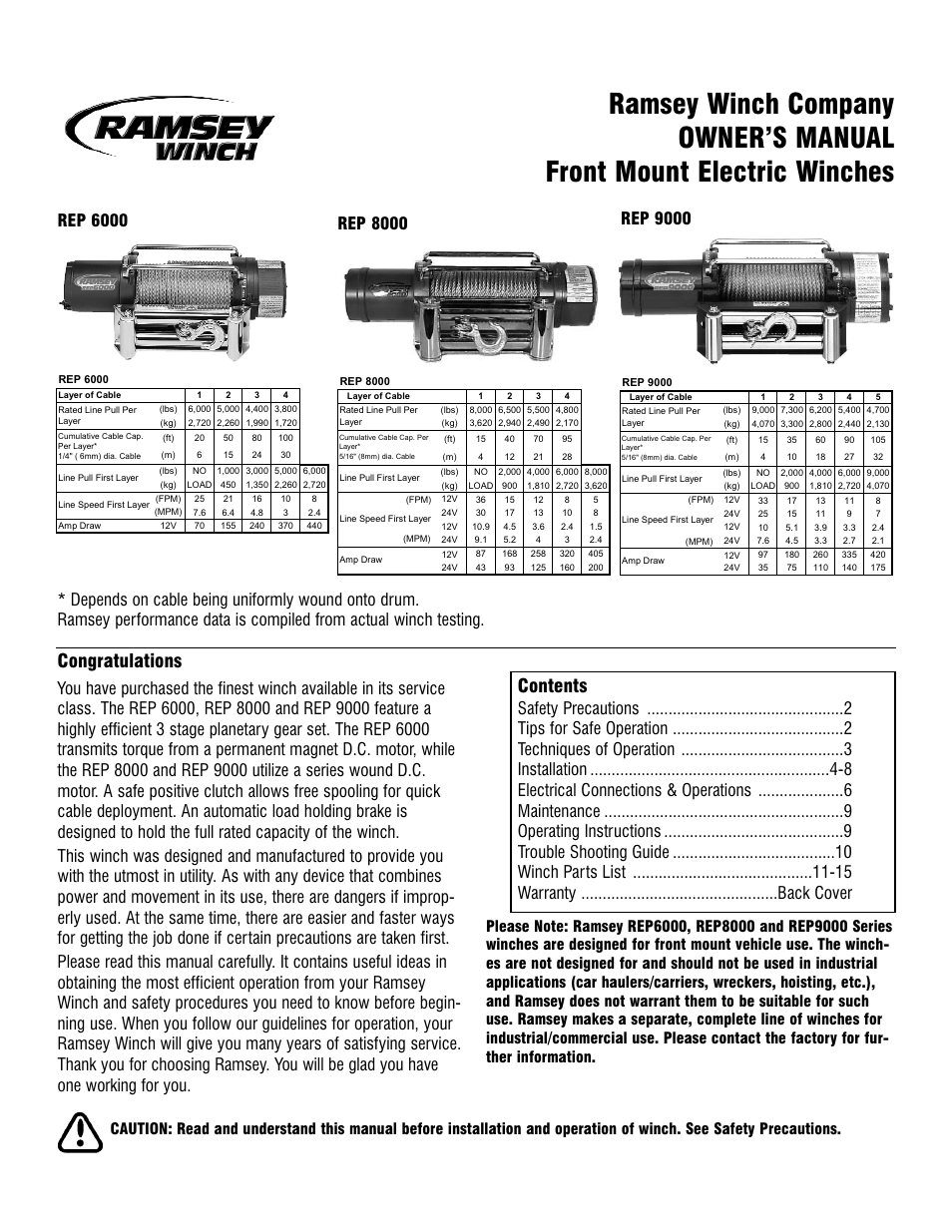 ramsey winch rep 6000_8000_9000 current page1?resize\\\\\\\\\\\\\\=665%2C861 100 [ chicago electric winch wiring diagram chicago winch parts Portable Electric Winch 110V at bayanpartner.co