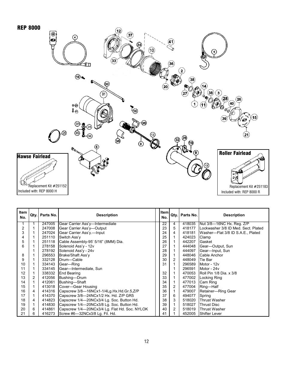 Ramsey 9000 Winch Wiring Diagram Superwinch