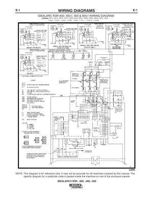 Wiring diagrams   Lincoln Electric IM409 IDEALARC R3R400