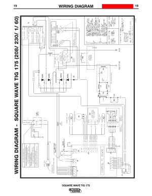 Wiring diagram, Enhanced diagram, Square wave tig 175