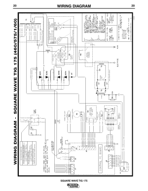 Wiring diagram, Square wave tig 175 | Lincoln Electric IM565 SQUARE WAVE TIG 175 User Manual