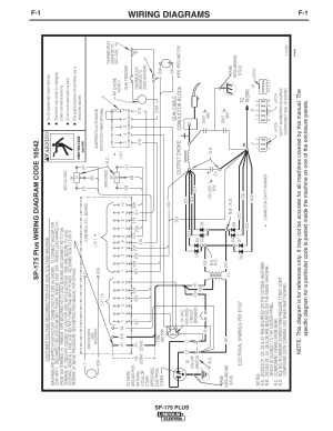 Wiring diagrams, Sp175 plus | Lincoln Electric IM610 SP