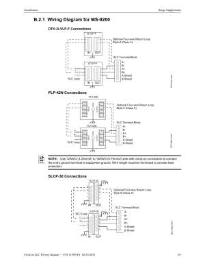 B21 wiring diagram for ms9200, Dtk2lvlpf connections