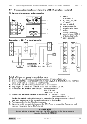 KROHNE IFC 110 Converter User Manual | Page 77  104