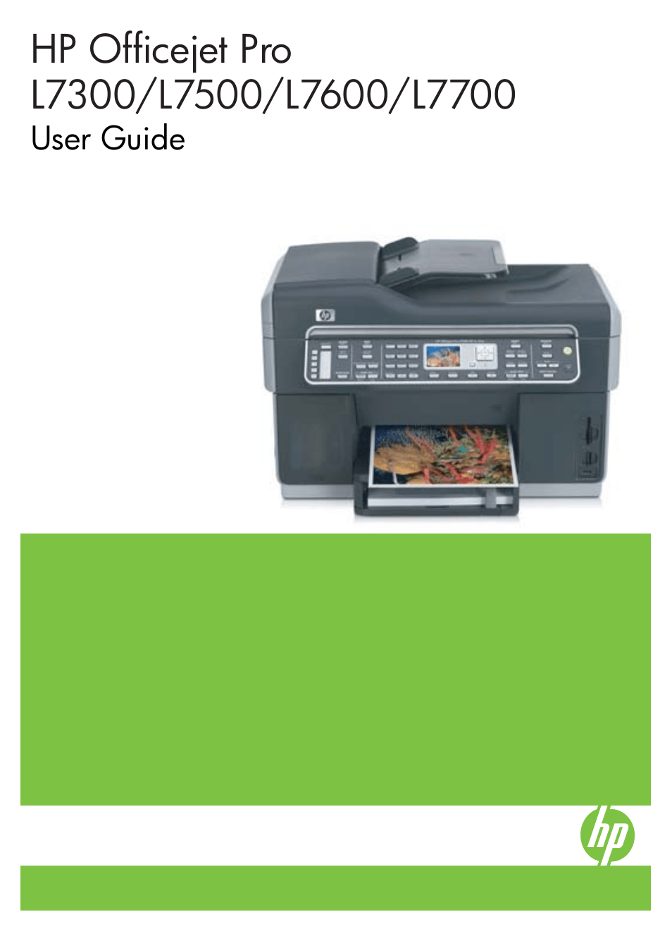 Hp Officejet Pro L7380 All In One Printer User Manual
