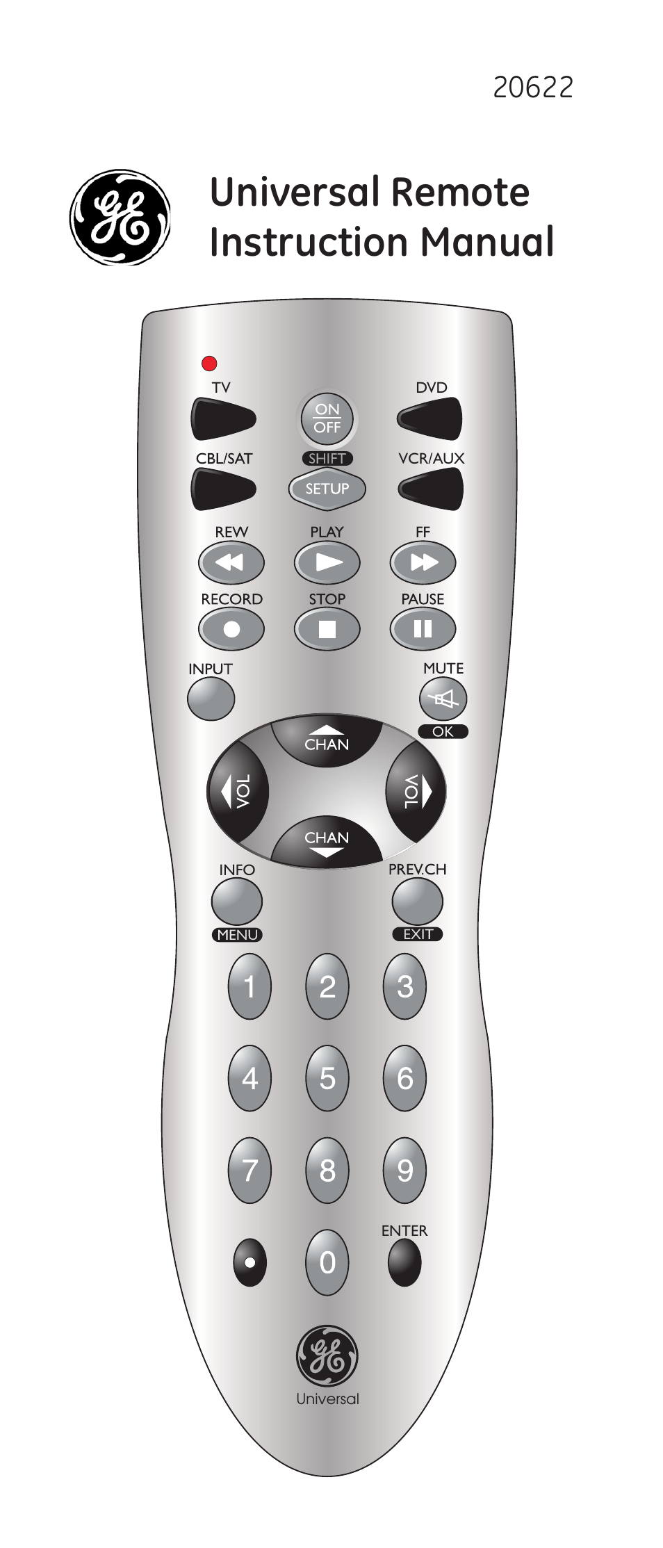 Ge 20622 Ge Universal Remote User Manual 15 Pages
