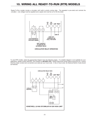 Wiring all readytorun (rtr) models | Amtrol BoilerMate Top Down User Manual | Page 23  32