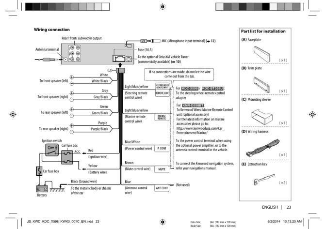 diagram kenwood model kdc x598 wiring diagram full version