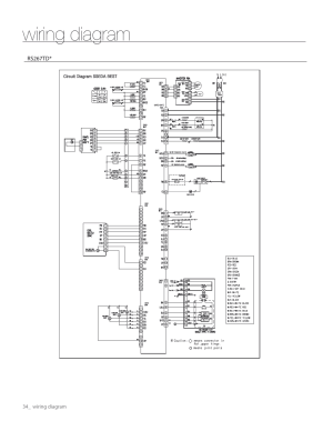 Wiring diagram | Samsung RS267TDWPXAA User Manual | Page