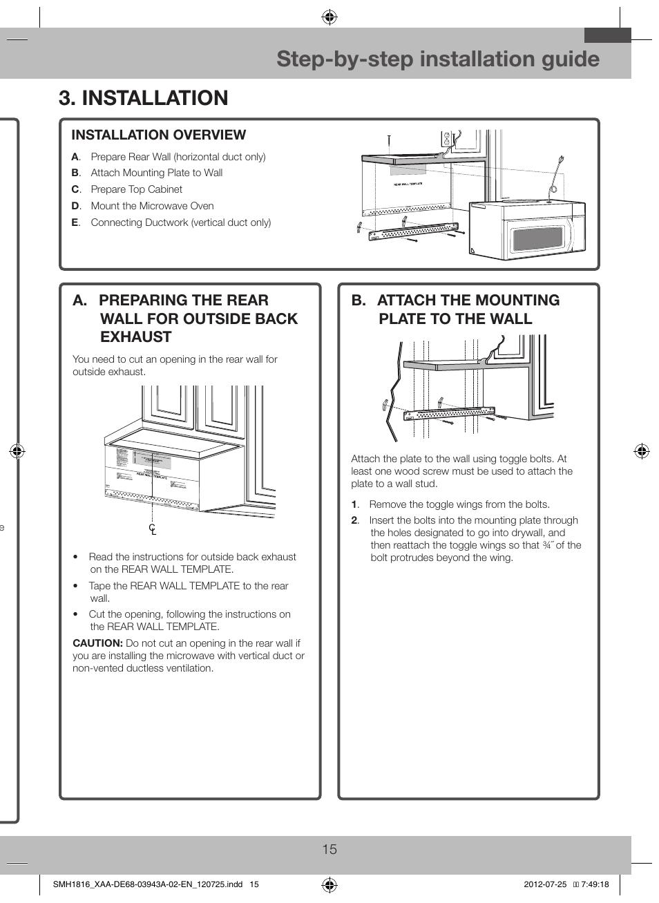 samsung smh1926w xaa user manual