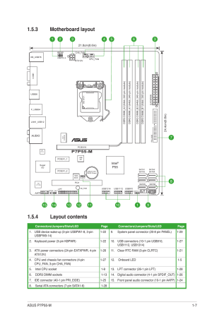3 motherboard layout, 4 layout contents, Motherboard