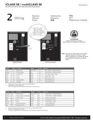 Wiring, Iclass se  multiclass se, 配線 布线 배선 п | HID iCLASS
