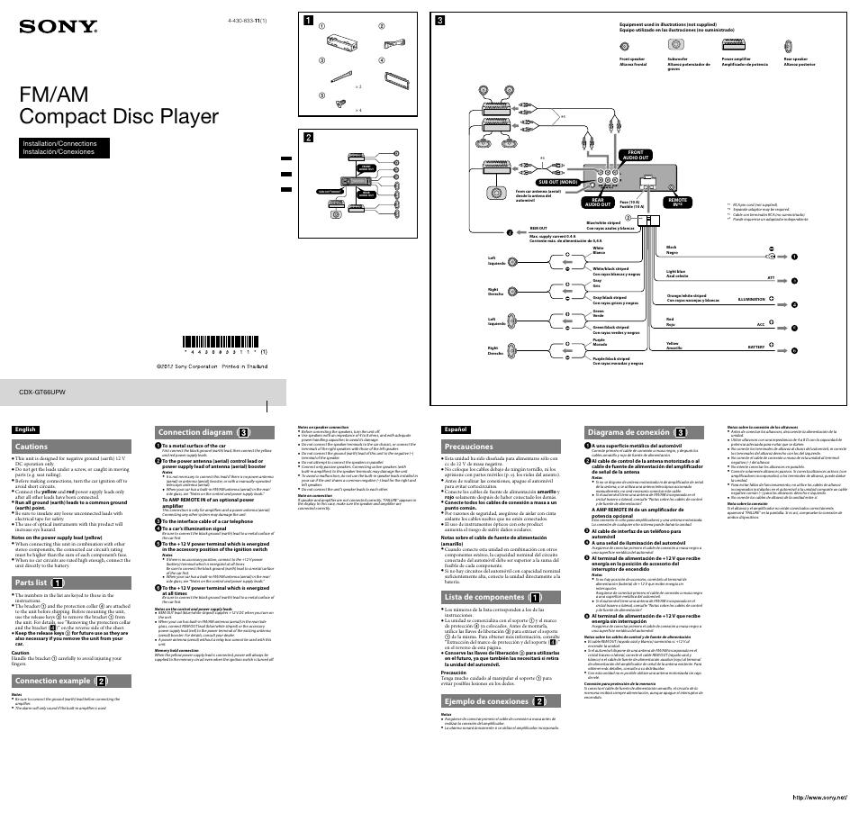 Sony Cdx Gt66upw User Manual