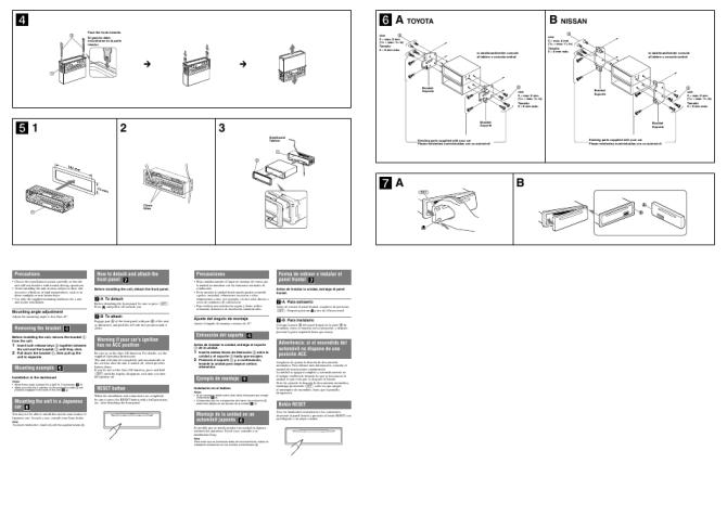 sony cdxdab500u operating instructions manual  induced
